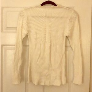 High-Neck Fitted-Stretchy Long-Sleeve Top
